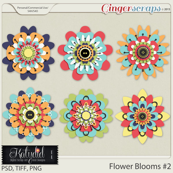 Stacked Blooms Layered Templates Pack No 2