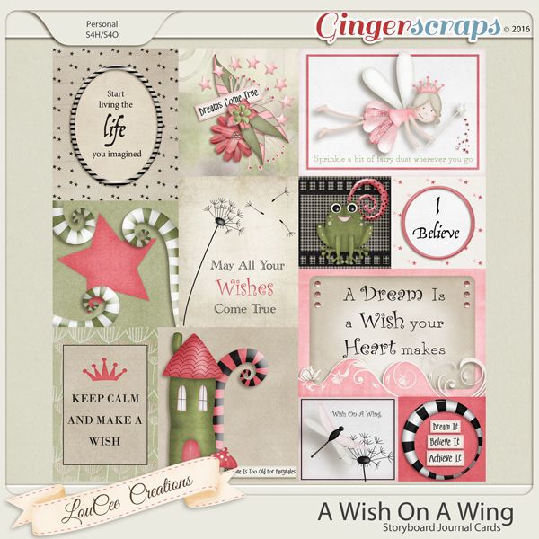 A Wish On A Wing Storyboard Journal Cards