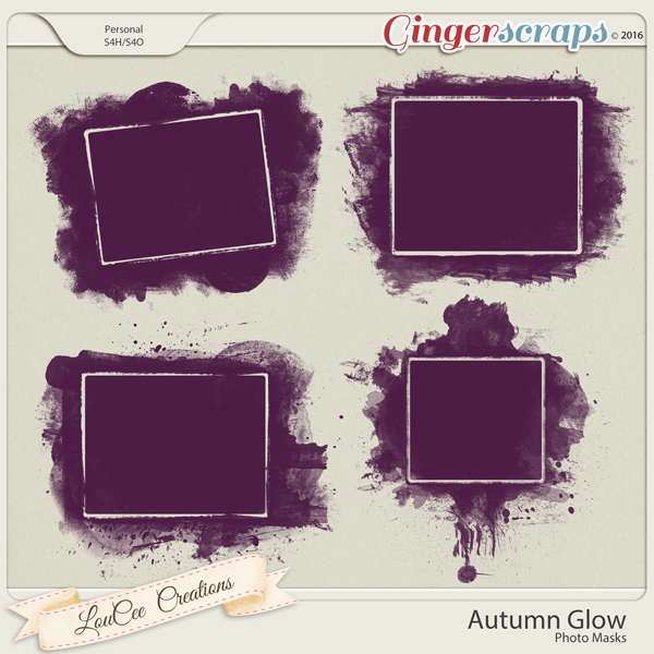 Autumn Glow Photo Masks by LouCee Creations
