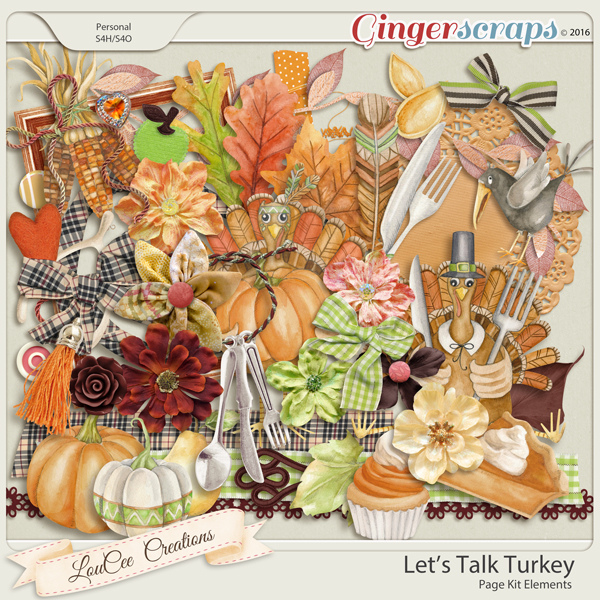 Let's Talk Turkey Page Kit Elements