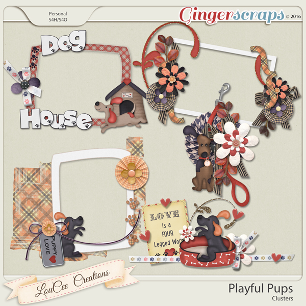 Playful Pups Clusters