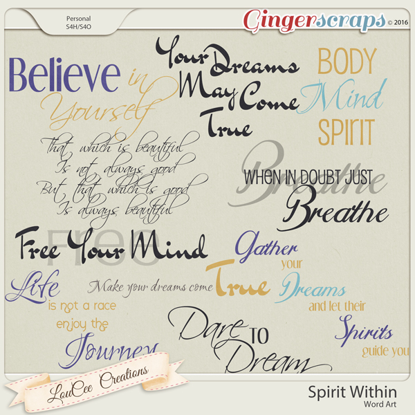 Spirit Within Word Art
