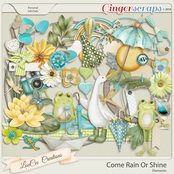 Come Rain Or Shine Elements by LouCee Creations