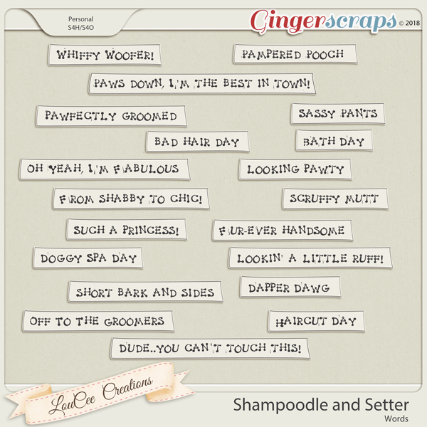 Shampoodle and Setter Words