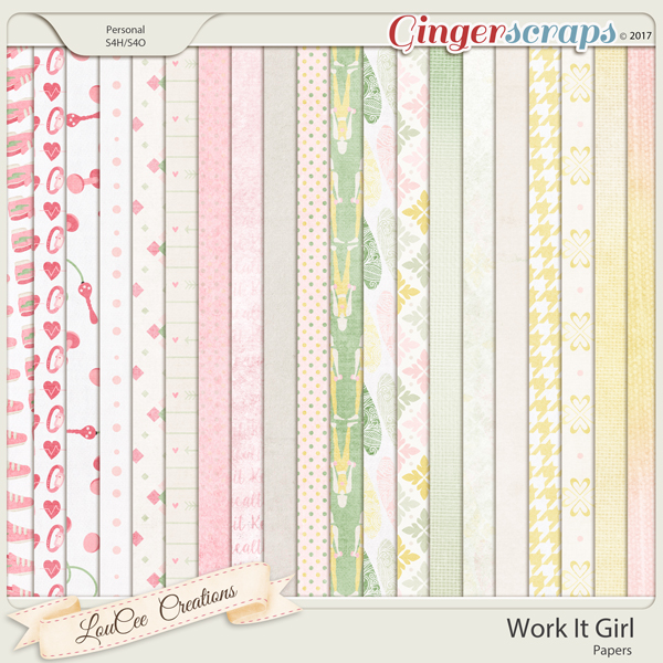 Work It Girl Papers by LouCee Creations