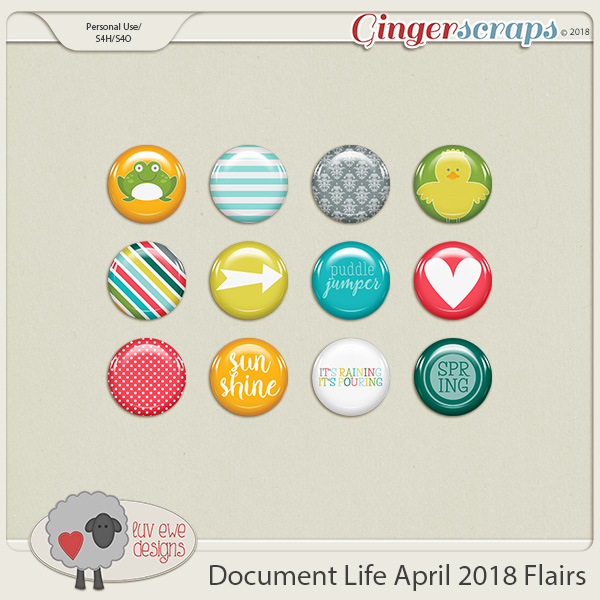 Document Life April 2018 Flairs by Luv Ewe Designs