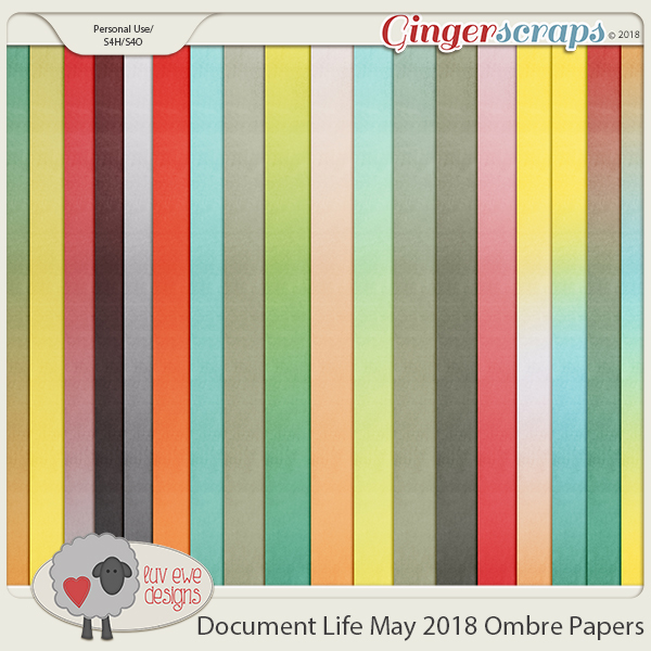 Document Life May 2018 Ombre Papers by Luv Ewe Designs
