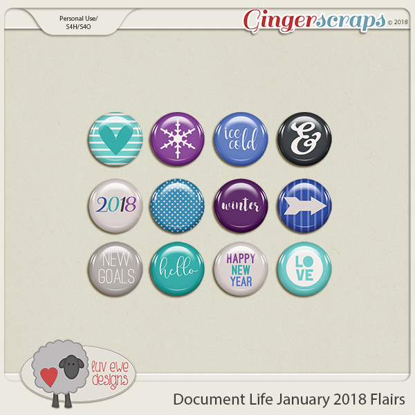 Document Life January 2018 Flairs by Luv Ewe Designs