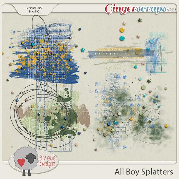 All Boy Splatters by Luv Ewe Designs