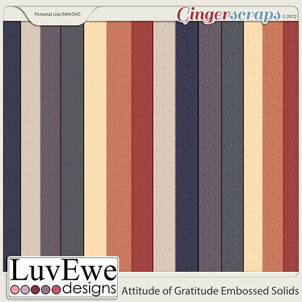Attitude of Gratitude Embossed Solids