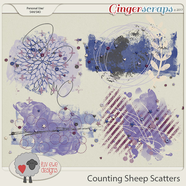 Counting Sheep Scatters by Luv Ewe Designs