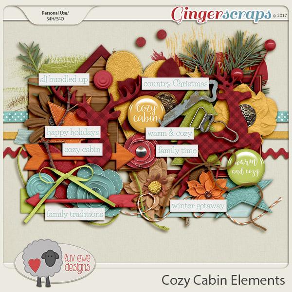 Cozy Cabin Elements by Luv Ewe Designs