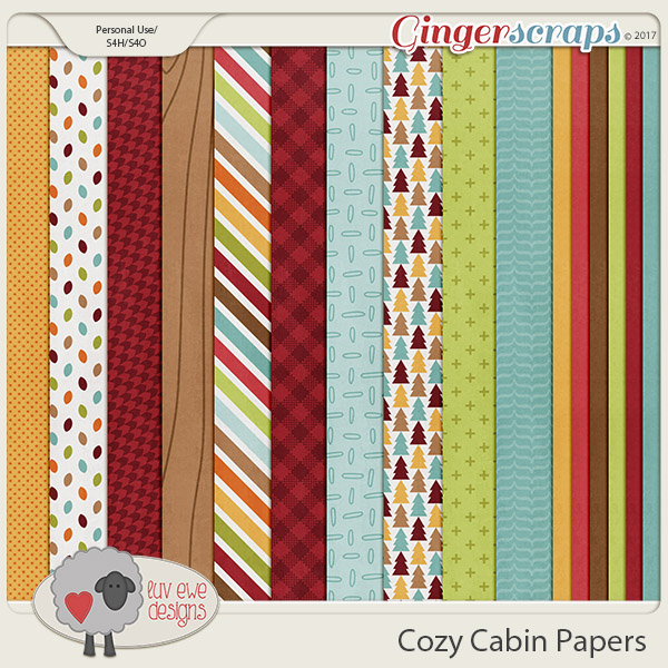 Cozy Cabin Papers by Luv Ewe Designs