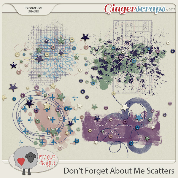 Don't Forget About Me Scatters by Luv Ewe Designs