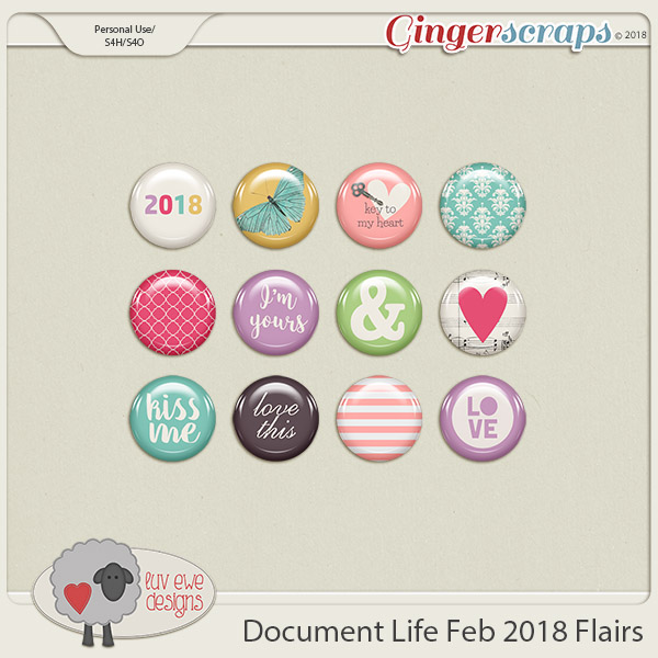 Document Life February 2018 Flairs by Luv Ewe Designs