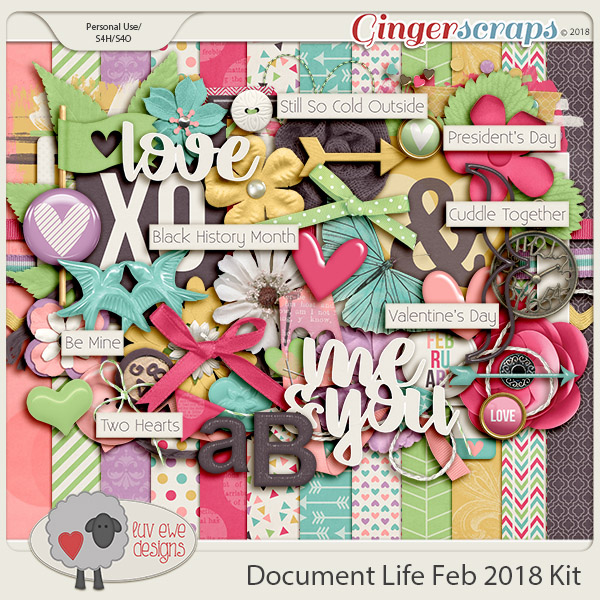Document Life February 2018 Kit by Luv Ewe Designs