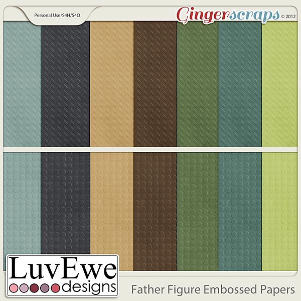 Father Figure Embossed Papers