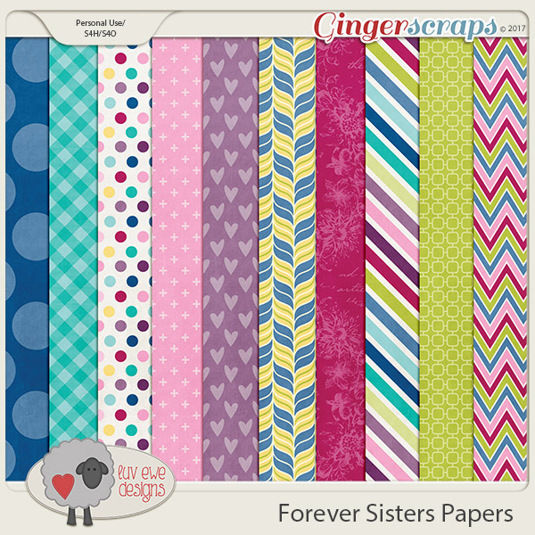 Forever Sisters Paper Pack by Luv Ewe Designs