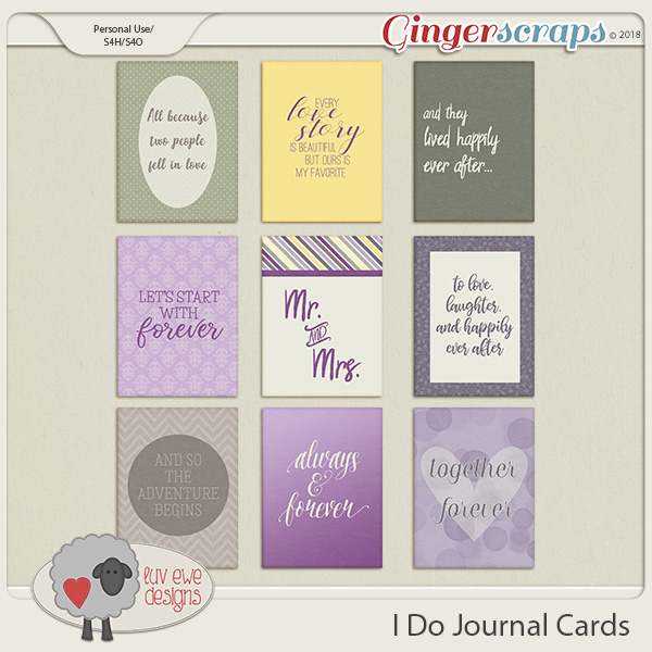 I Do Journal Cards by Luv Ewe Designs