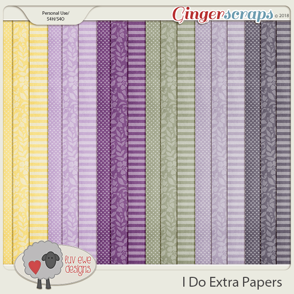 I Do Extra Papers by Luv Ewe Designs