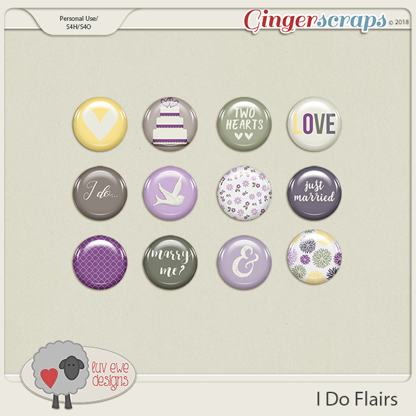 I Do Flairs by Luv Ewe Designs