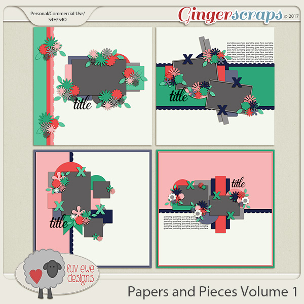Papers and Pieces Volume 1 by Luv Ewe Designs