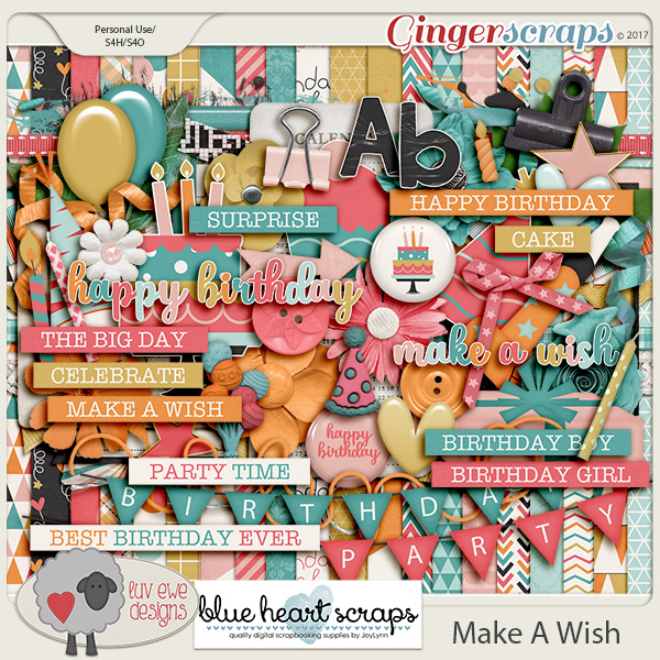 Make A Wish Kit By Luv Ewe Designs and Blue Heart Scraps