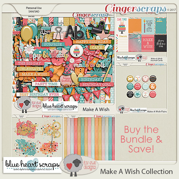 Make A Wish Bundle by Luv Ewe Designs and Blue Heart Scraps