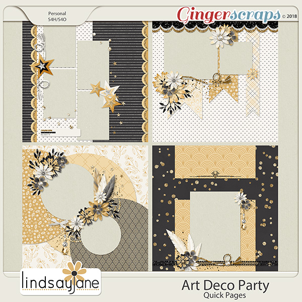 Art Deco Party Quick Pages by Lindsay Jane