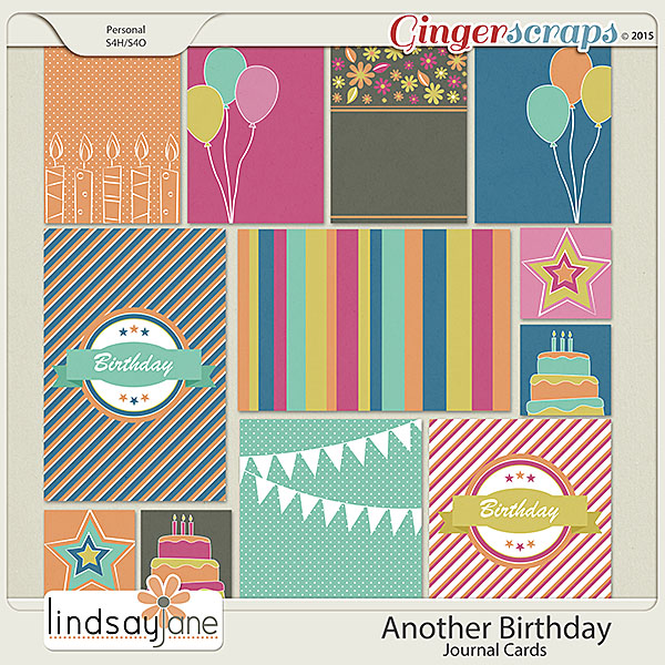 Another Birthday Journal Cards by Lindsay Jane