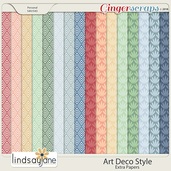 Art Deco Style Extra Papers by Lindsay Jane