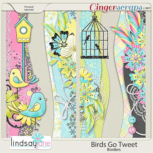Birds Go Tweet Borders by Lindsay Jane