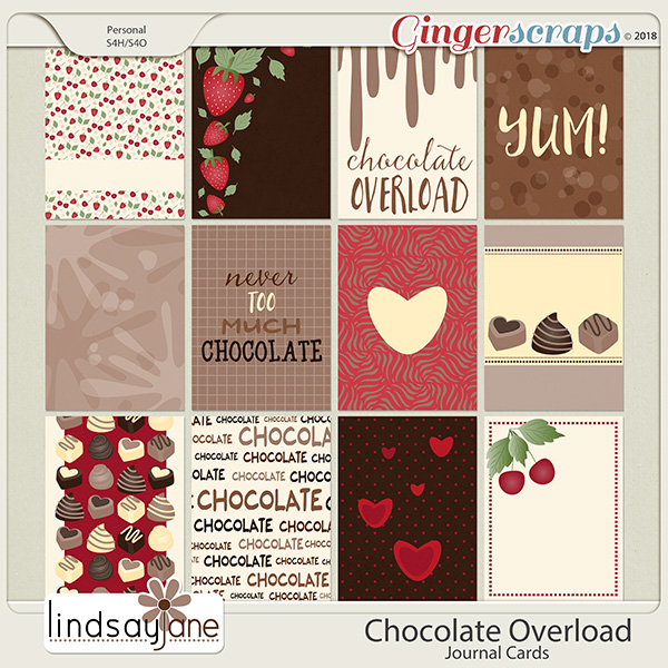 Chocolate Overload Journal Cards by Lindsay Jane