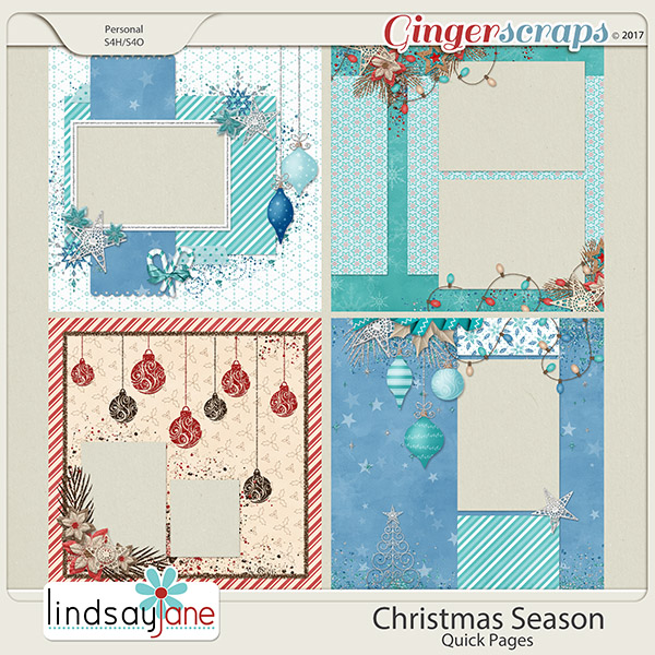 Christmas Season Quick Pages by Lindsay Jane