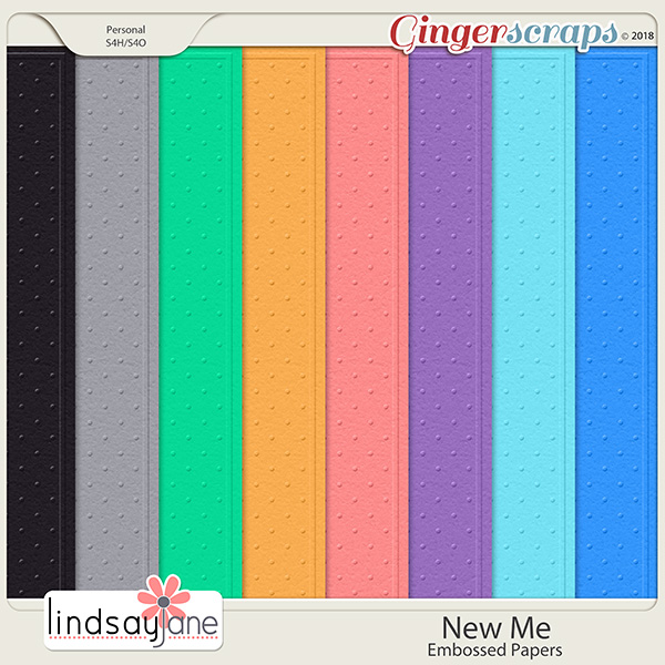 New Me Embossed Papers by Lindsay Jane