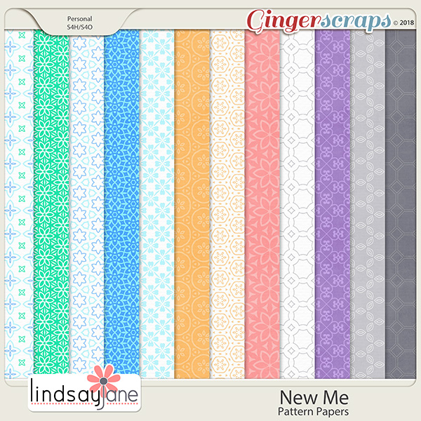 New Me Pattern Papers by Lindsay Jane