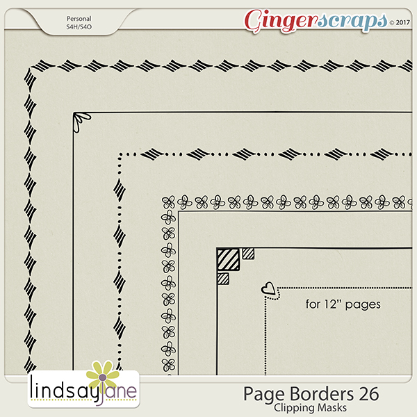 Page Borders 26 by Lindsay Jane