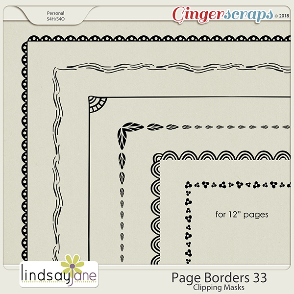 Page Borders 33 by Lindsay Jane