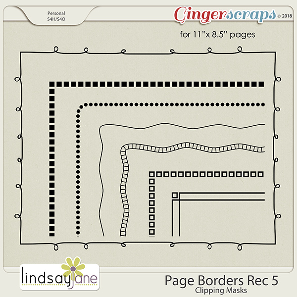 Page Borders Rec 5 by Lindsay Jane