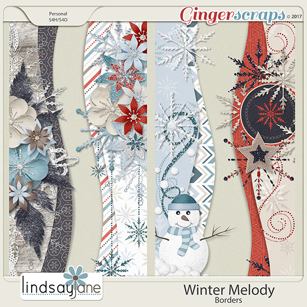 Winter Melody Borders by Lindsay Jane