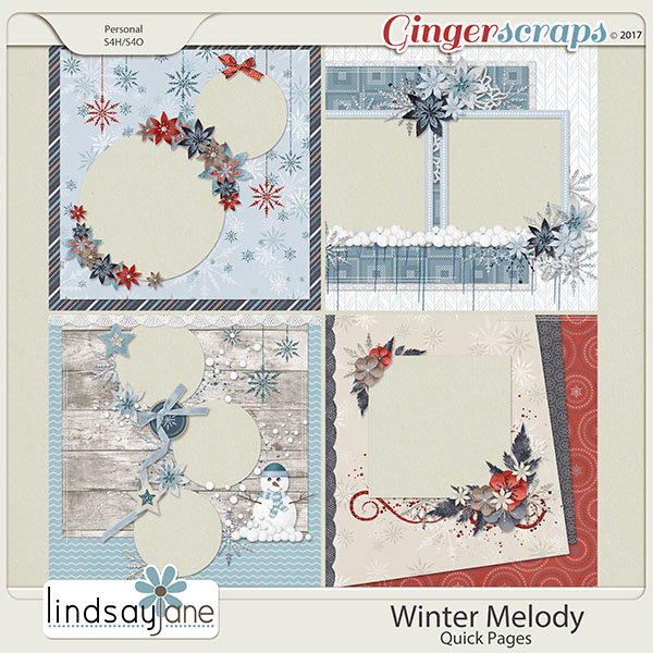 Winter Melody Quick Pages by Lindsay Jane