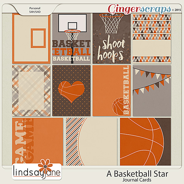 A Basketball Star Journal Cards by Lindsay Jane