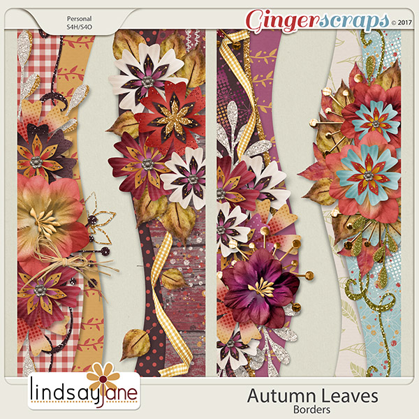 Autumn Leaves Borders by Lindsay Jane