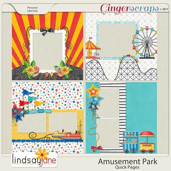 Amusement Park Quick Pages by Lindsay Jane