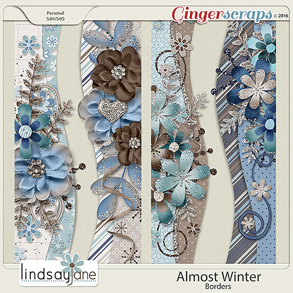 Almost Winter Borders by Lindsay Jane