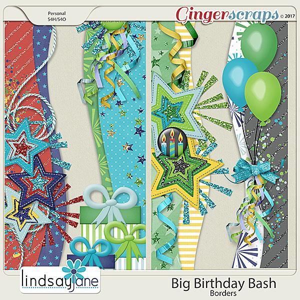 Big Birthday Bash Borders by Lindsay Jane