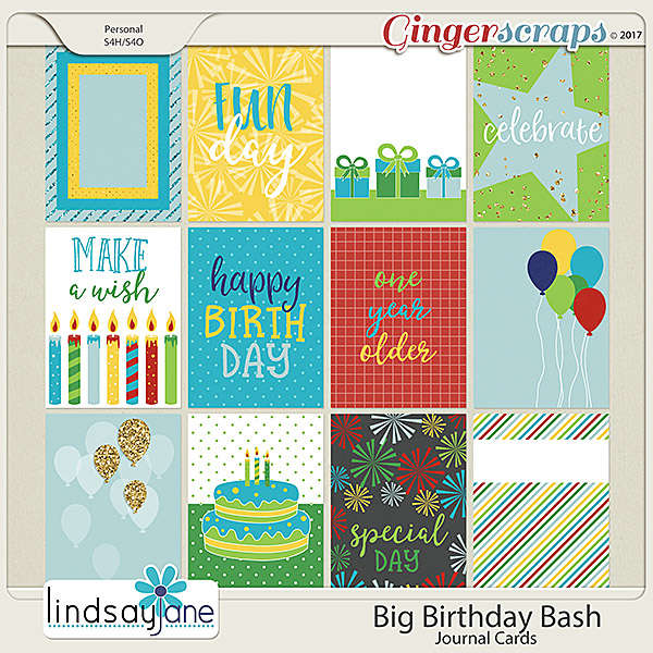 Big Birthday Bash Journal Cards by Lindsay Jane