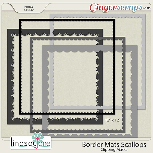 Border Mats Scallops by Lindsay Jane