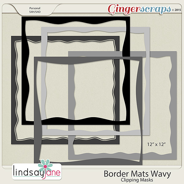 Border Mats Wavy by Lindsay Jane