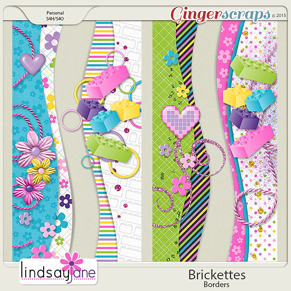 Brickettes Borders by Lindsay Jane